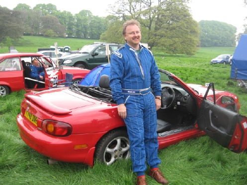 Nigel Hodson with his MX-5 Mk2 Sport